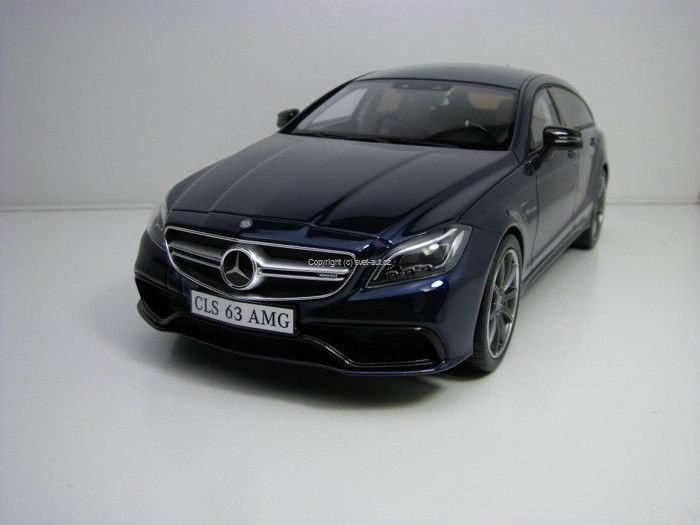 Mercedes-Benz CLS 63 AMG Shooting Brake Blue 1:18 GT Spirit